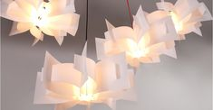 White Polypro Ceiling Lamp Shade, Rhapsody | MADE.com