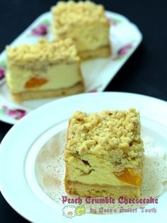 Coco's Sweet Tooth: 酥碎水蜜桃芝士蛋糕 Crumble Peach Cheesecake....... My dista...