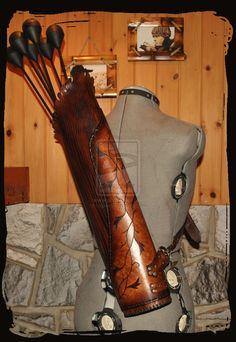 leather quiver elven by Lagueuse.deviantart.com on @deviantART