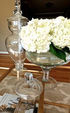 Use your Apothecary Jars like these from HomeGoods as vases for a fun Spring update to your decor.
