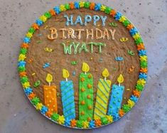Inspired Picture of Happy Birthday Cookie Cake . Happy Birthday Cookie Cake Indulge With Me Wyatts Birthday Cookie Sugar Cookie Recipe Easy, Easy Peanut Butter Cookies, Cake Mix Cookie Recipes, Cookie Cakes, Cookie Cake Designs, Cookie Cake Decorations, Cookie Decorating, Happy Birthday Cookie, Birthday Cookies