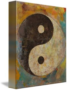 World Menagerie 'Yin Yang' by Michael Creese Painting Print on Wrapped Canvas Size: Framed Wall Art, Wall Decals, Framed Prints, Poster Prints, Canvas Prints, Posters, Painting Frames, Painting Prints, Art Prints