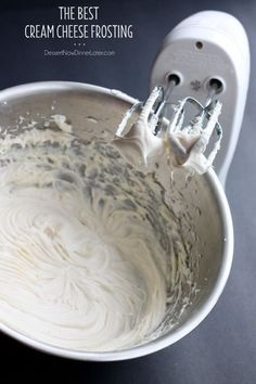 This is the BEST Cream Cheese Frosting you will ever make! It's sturdy, not stringy, and lightly sweet. Great for piping or spreading on your favorite cakes!