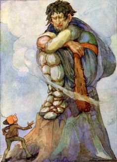 """""""The Brave Little Tailor"""" Art by Anne Anderson - From The Brother's Grimms Fairy Tales. Germany (1812)"""
