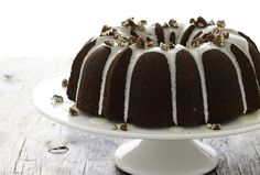 Molasses Spiced Bundt Cake with Bourbon. This easy recipe makes the house smell delicious.