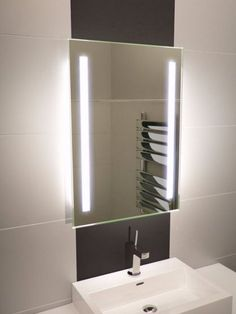 Lumin Tall Led Light Bathroom Mirror 831v Illuminated Mirrors