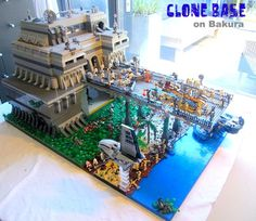 Lego Star Wars Clone Base, come and check out my minifigures website for cheap figures to populate them Lego Star Wars, Star Wars Stormtrooper, Star Wars Clone Wars, Star Wars Clones, Lego Clones, Star Destroyer, Star Wars Figure, Amazing Lego Creations, Lego Spaceship