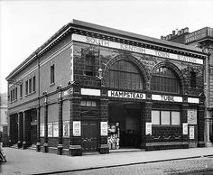 South Kentish Town Underground Station,  Kentish Town Road, 8 Aug 1907. Closed during the labour strike on 5 Jun 1924 and never re-opened.