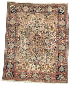 Motashem Kashan Carpet late 19th C. Lot 90