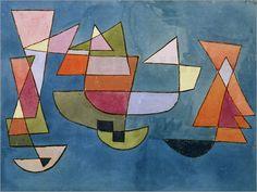 Paul Klee - poster Sailing Boats