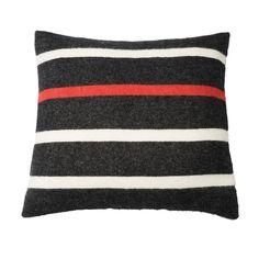 Faribault Black Stripe Nisswa Stripe Wool Pillow Case