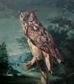 The Owl | From a unique collection of animal paintings at https://www.1stdibs.com/art/paintings/animal-paintings/