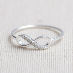 US 6.5 Size-delicate Infinity ring in silver