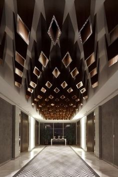 Yu Bar at the Marriott Hotel in Shanghai by Kokaistudios « Awesome Architecture