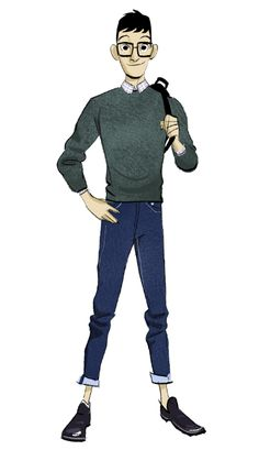 "Concept art of Tadashi from Disney's ""Big Hero 6"" (2014) by Shiyoon Kim."