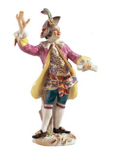 MEISSEN   Conductor, Coloured, with gold, H 14,5 cm
