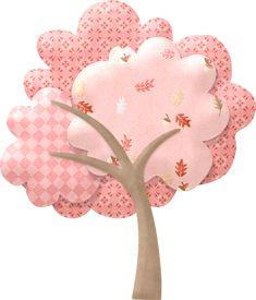 "Photo from album ""Осенний скрап от Nitwit"" on Yandex. Wool Applique, Applique Patterns, Applique Quilts, Applique Designs, Embroidery Applique, Quilt Patterns, Embroidery Designs, Tree Quilt, Cute Clipart"