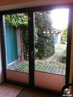 Die Tür Zum Garten   Sichtschutz Plissees Nach Maß Aus Unserem Onlineshop