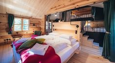 The 3 huts of the Hollmann am Berg on the Turracher Höhe can accommodate up to 10 people. High-quality materials and sophisticated design in the mountains. Design Hotel, Private Sauna, Forest House, Bunk Beds, Relax, Pure Products, Furniture, Home Decor, Travel