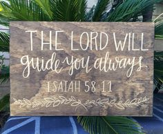 Wooden Bible verse sign by @amandaleelettering …