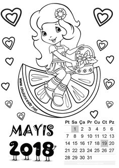 mayis ayı kalıbı Templates Printable Free, Free Printables, Student Calendar, Precious Moments, New Age, Coloring Pages, Kindergarten, Preschool, Playing Cards