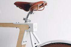 BSG bikes - wooden bicycle detail