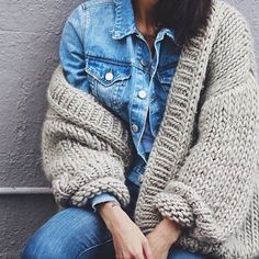 Denim & knits #denim #thecardigan #bigknits #wool #heartwarming #knitwear #australia #ilovemrmittens @pepamack