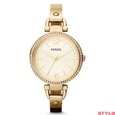 Reloj Fossil Es3282 Virginia Reloj Para Dama Plateado origi