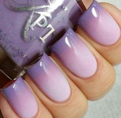 Shared by flowersinmyhead. Find images and videos about nails, purple and nail polish on We Heart It - the app to get lost in what you love. Purple Ombre Nails, Ombre Nail Art, Purple Wedding Nails, Ombre Nail Polish, Ombre Nail Colors, Purple Nail Art, Pink Purple, Ombre Nail Designs, Acrylic Nail Designs