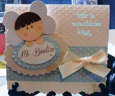 INVITACIONES DE BAUTIZO Baptism Cards, Boy Baptism, Christening, Baby Shower Parties, Baby Boy Shower, Baptism Centerpieces, Candy Cards, First Holy Communion, Make Happy