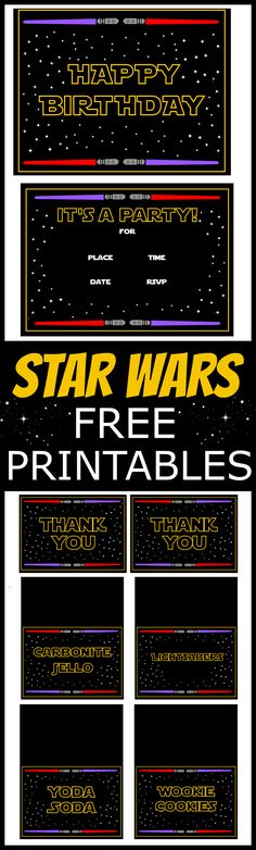 Star Wars Free Printables | CatchMyParty.com