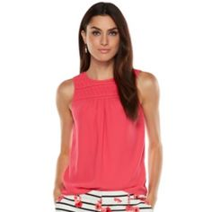 ELLE Pintuck Crepe Tank - Women's - just bought this great fitting tank!!