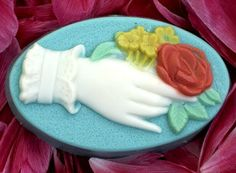 Victorian Bouquet Plastic Soap Mold Three Cavity by pinkladygifts, $6.99