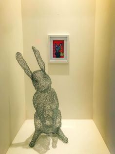 Chicken wire sculpture of rabbit made by Jallen2 on trademe.co.nz Chicken Wire Sculpture, Rabbit, Pattern, Crafts, Design, Bunny, Rabbits, Manualidades, Bunnies