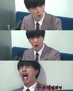 His face when he ate sour stuff #Sungjae