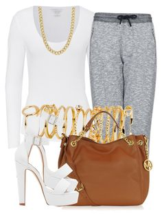 """."" by trillest-queen ❤ liked on Polyvore featuring Majestic, Topshop, H&M, Pieces, Michael Kors and Forever New"