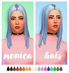 Monica hair - .