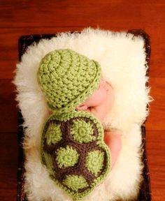 Newborn Baby Infant Knit Sweater Crochet Photography Prop turtle costume 0-8M HK