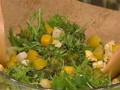 Hearty winter dishes: Vegetable salad, bean chili