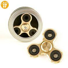 DS24 Premium Spinner ALLOY Gold - Hand Spinner Aluminium - Profi Spinner - High Quality DE frei Haus - Fidget spinner (*Partner-Link)