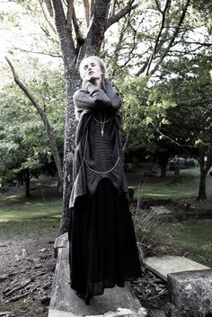 Religiously – Model Emily Baker dons darkly romantic looks in this shoot by David K. Shields for Australian glossy, Stil Magazine. In neo-gothic selects styled… Dark Fashion, Fashion Photo, Sweater Skirt Outfit, Dedicated Follower Of Fashion, Romantic Period, Cool Style, My Style, Visual Kei, Cemetery