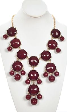 Bubble Necklace in maroon