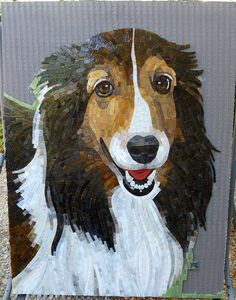 Cute mosaic puppy        #mosaic #animals
