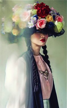 ❀ Flower Maiden Fantasy ❀ beautiful photography of women and flowers - VOGUE ITALIA