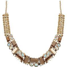 Betsey Johnson Iconic Topaz Rhinestone Necklace ($145)