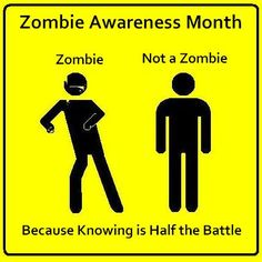 Zombie Awareness Month: Knowing is Half the Battle. Zombie Apocalypse Survival, Zombie Apocolypse, Zombies Survival, Gi Joe, Pen & Paper, Zombie Attack, Walking Dead Zombies, Zombie Party, Just For Laughs