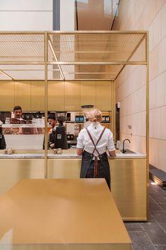 *키오스크 커피 카페 woods bagot positions brass coffee kiosk inside sydney tower