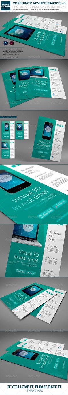 Corporate App Flyer / Advertisement / Multipurpose - Corporate Flyers
