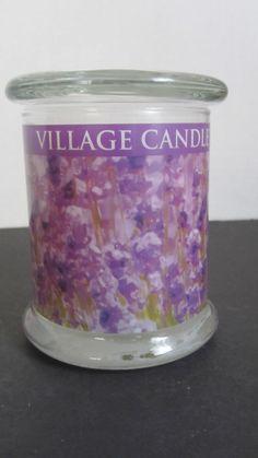 Lavender Mist Radiance Jar Wooden Wick Scented Candle Village Candle 13 oz. New #VillageCandle