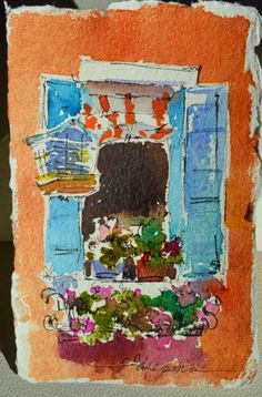 Dreama Tolle Perry watercolor postcards.